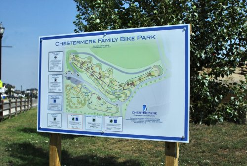 Chestermere bike park map